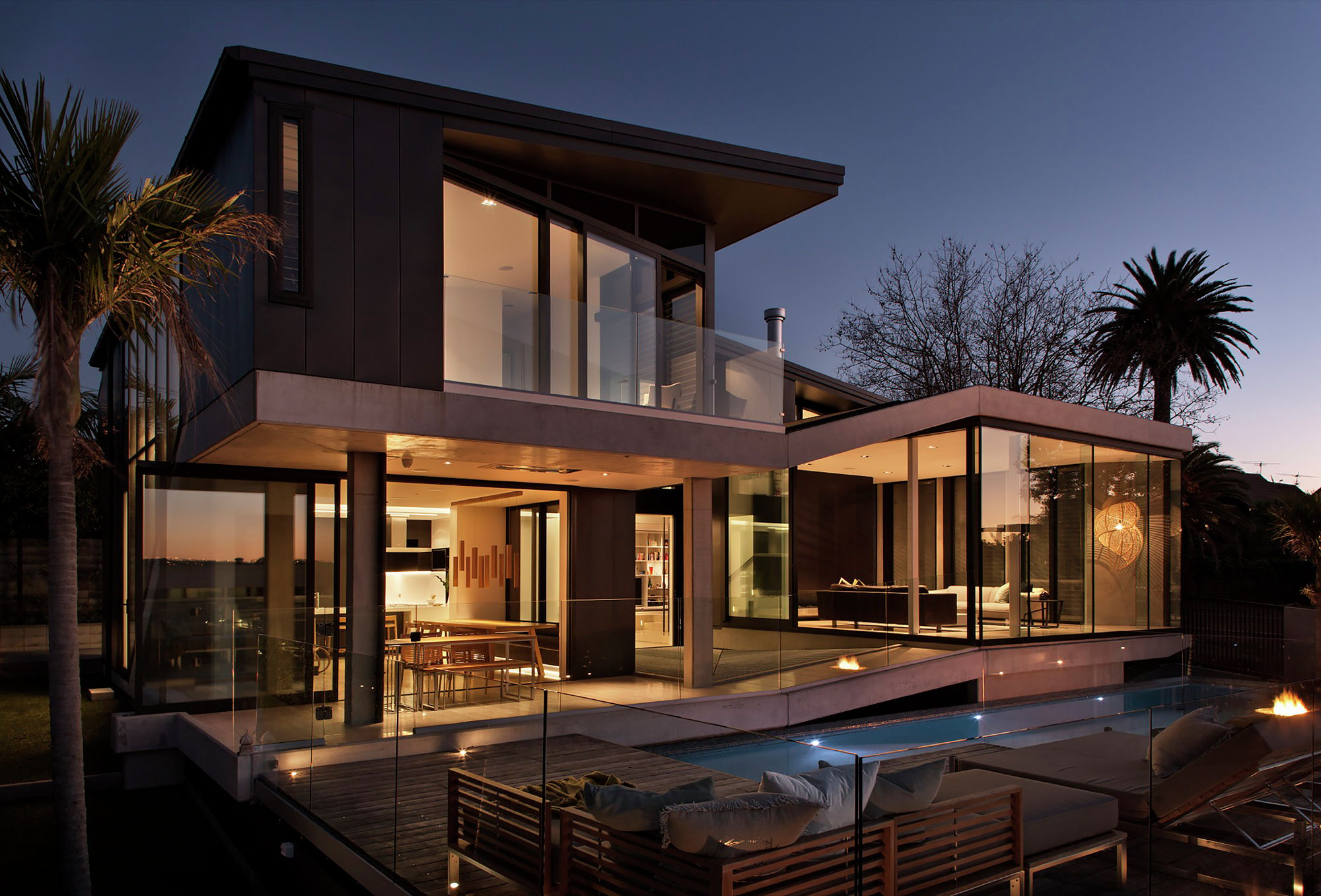 Out of town villa in new zealand upon the project of for Contemporary house builders