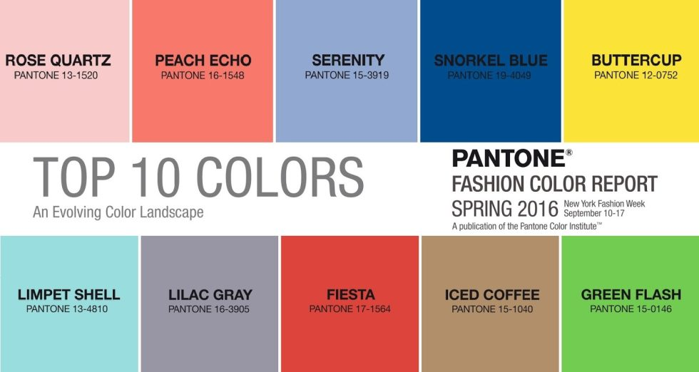 Pantone Color of The Year 2016 Fashion