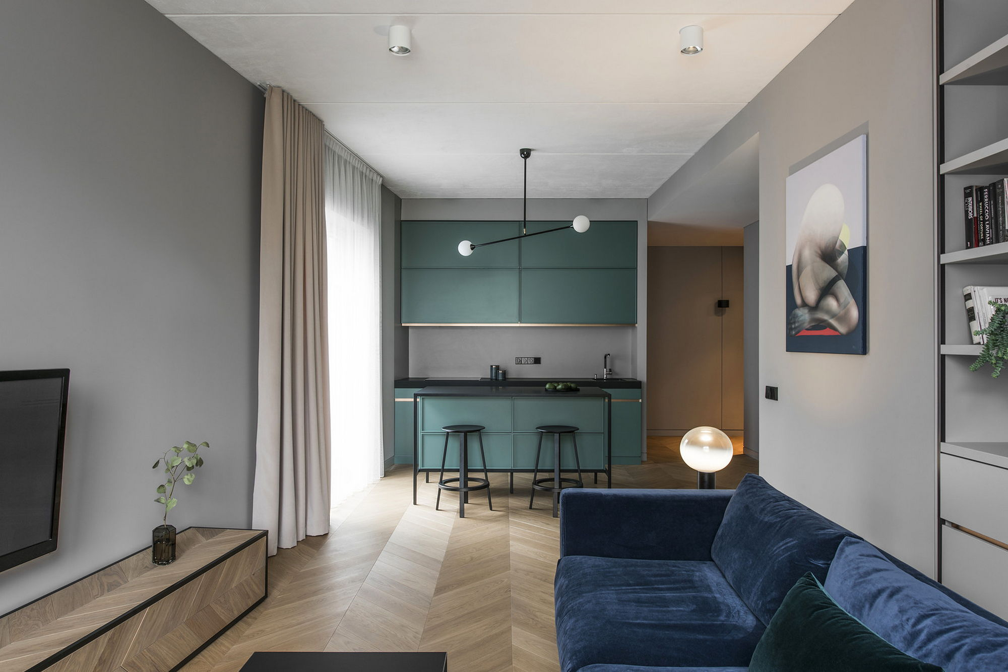 Interior of the apartment in vilnius for Design apartment 2 budapest