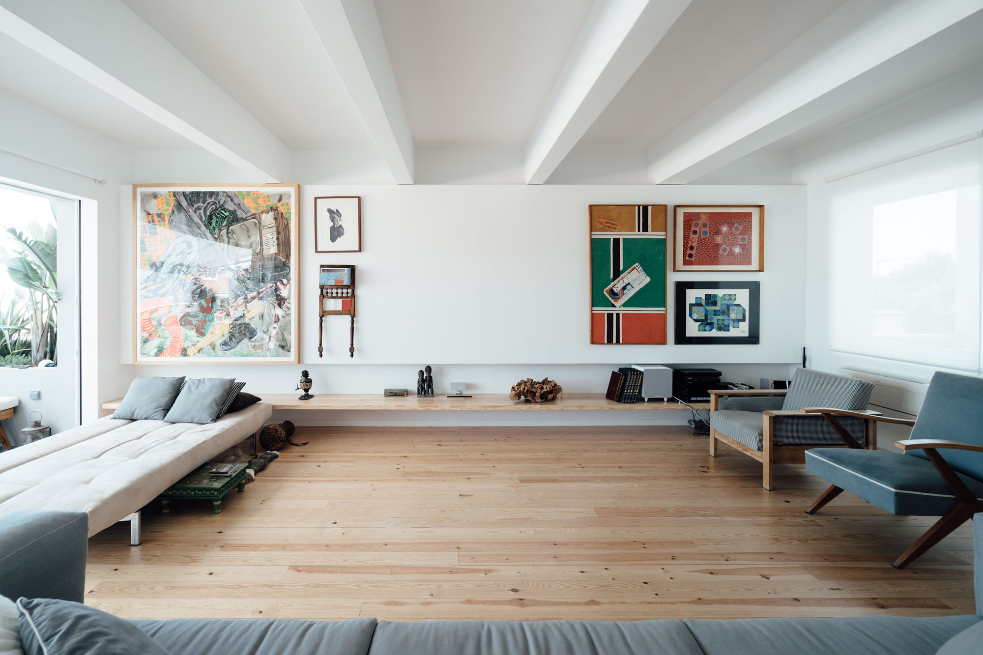 Minimalist Swedish Two-Level Apartment