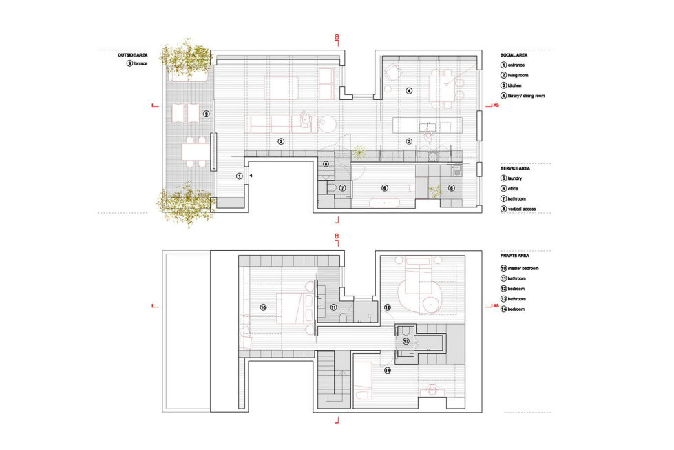 B.A. The Two Level Apartment In Lisbon By Atelier Data 21