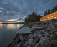 The Beach House On A Rivers Shore In Canada 1