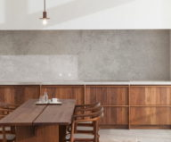 Stone and Wood in The Interior of The Penthouse In Belgium 2