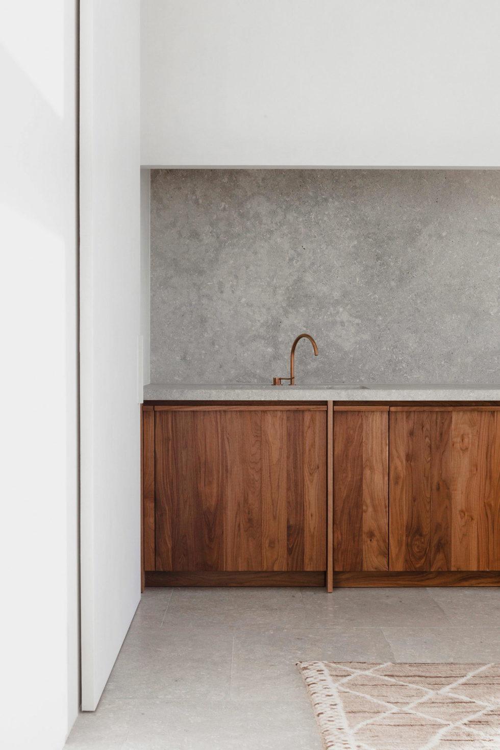 Stone and Wood in The Interior of The Penthouse In Belgium 4