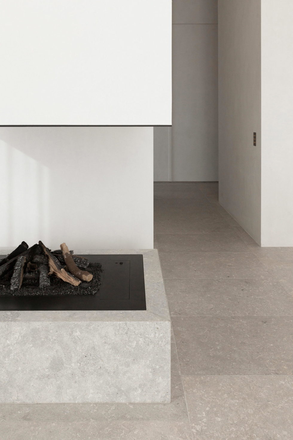 Stone and Wood in The Interior of The Penthouse In Belgium 6