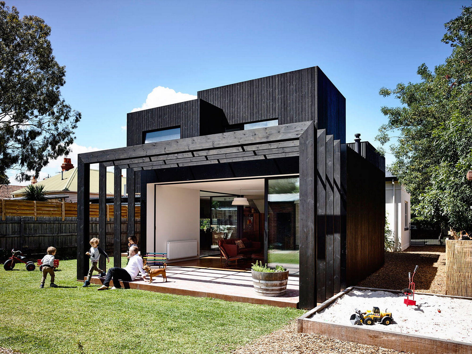 Contemporary house renovation of the century house by for What is a modern house