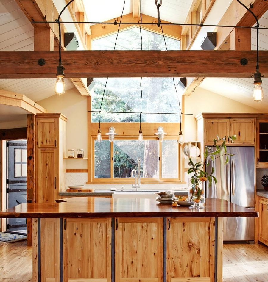 additional windows under the roof in kitchen