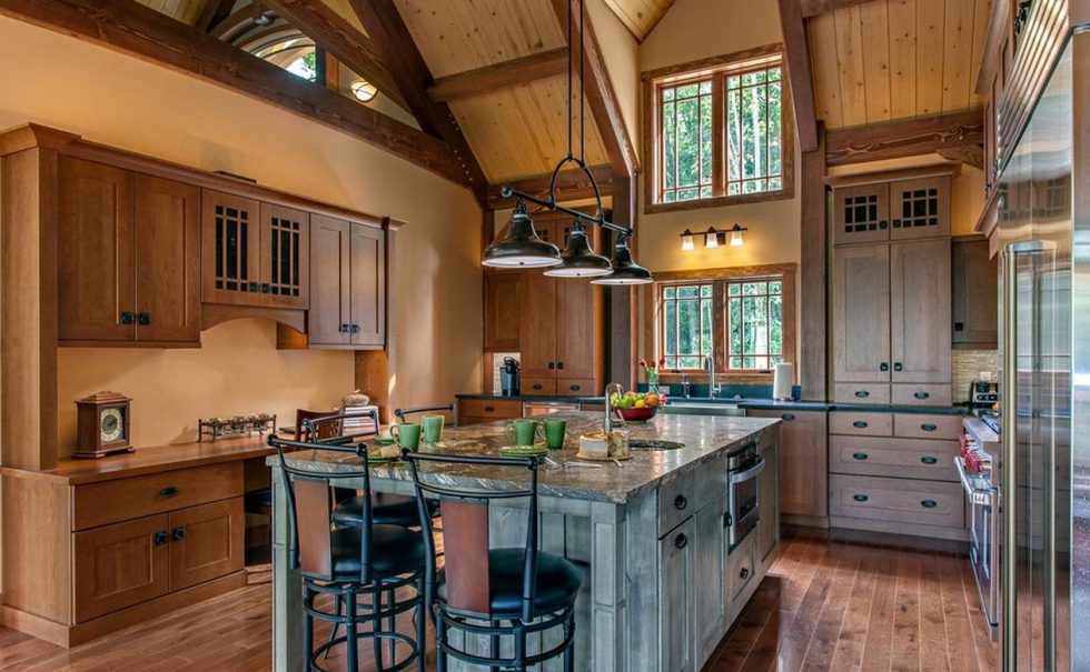 kitchen design in the country style arrangement