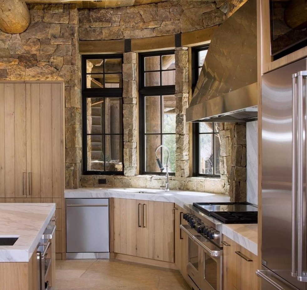 modern kitchen country style