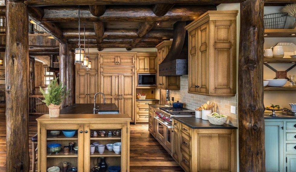 rustic element in kitchen design