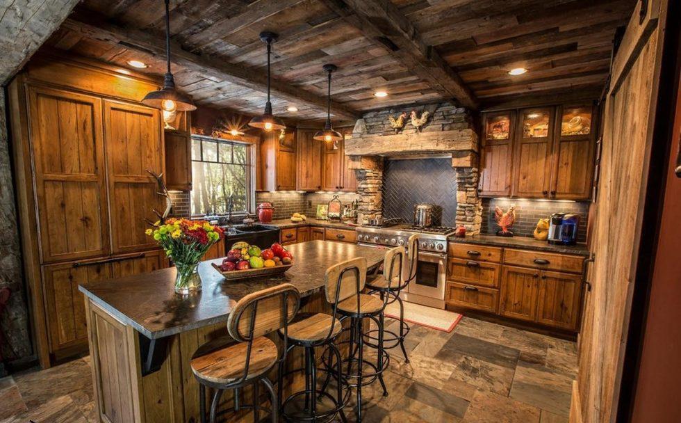 stone finishing kitchen
